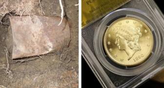 Trovano una lattina sepolta in giardino: il contenuto vale 10 milioni di dollari...