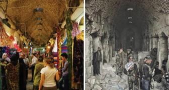 Deze Voor- En Nafoto's Van Aleppo Laten De Verschrikkelijke Gevolgen Van Oorlog Zien