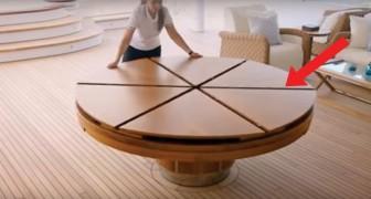 Van 6 zitplaatsen naar 12 zitplaatsen met één simpele en moeiteloze beweging: deze tafel wil iedereen wel hebben!
