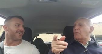 Su padre esta enfermo de Alzheimer y ha olvidado todo, pero cuando siente una cancion en la radio...Wow!