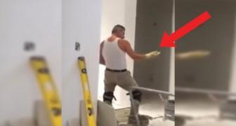 Deze bouwvakker heeft pauze: als hij dit nummer hoort, kan hij zich simpelweg niet inhouden!