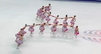 Patinaje sincronizado: la coordinacion y la gracia de este equipo los hechizara