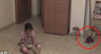 Is this child being haunted by a ghost in her house?! Check it out!
