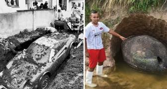 Uomini che hanno scavato nel proprio giardino... ed hanno trovato una fortuna
