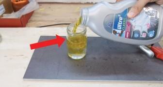 Wie man Glasbehälter mit Wasser und Öl perfekt schneidet