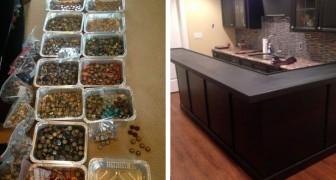 Han samlar på kapsyler under 5 år: det som han skapar i köket är UNIKT