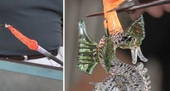 La increible fascinacion de la elaboracion del vidrio: miren como toma vida el cuerpo de este dragon