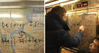 La metro è stata imbrattata con delle svastiche: il gesto di un ragazzo mobilita TUTTI i passeggeri