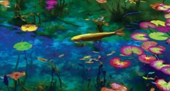 Diseño o realidad? Este estanque japones parece un cuadro de Monet