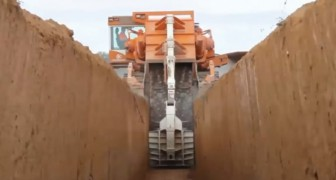 Powerful Disc and Chain Trenchers get the job done! Wow!