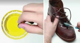 Vous avez des objets en cuir usé? Utilisez ce mélange pour leur donner une nouvelle brillance