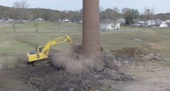 Watch this freaky demolition accident! Wow!