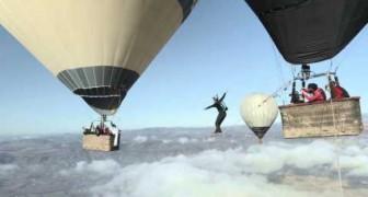 En equilibrio entre dos globos aerostaticos