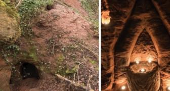 Parecia la madriguera de un conejo, pero escondia una iglesia de los Templarios: las imagenes parecen salidas de un film