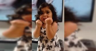 Ze hoort haar lievelingsnummer op TV: de manier waarop ze meezingt is veroverend!