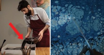Ebru Kunst, eine unbekannte Maltechnik, die gerade berühmt wird