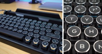 Innovative Old School typewriter keyboard! Check it out!