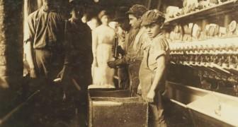 Foto's uit het begin van de 20ste eeuw van kinderen... die veel harder moesten werken dan wij