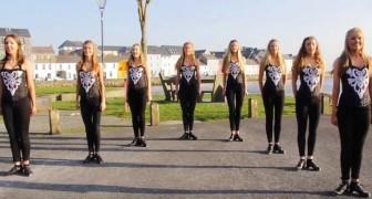Sie steppen zu einem modernen Lied: ihre Darbietung wird euch hypnotisieren