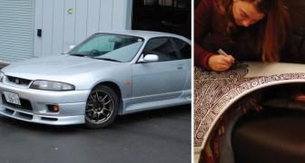 Haar man koopt een GTR en laat haar de auto versieren met een stift: het resultaat mag er wezen