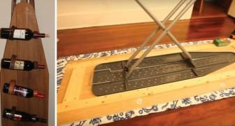 Desde una mesa de altura regulable a un comodo portabotellas: 6 modos de reutilizar la tabla de planchar