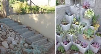 De la casa al jardin, aqui 15 modos geniales para utilizar los bloques de cemento en el bricolage