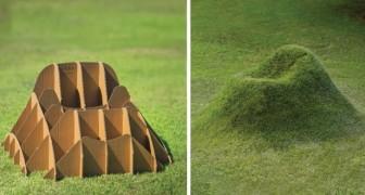 Dit bedrijf kreeg het geniale idee om meubels te maken die je met gras kunt laten begroeien