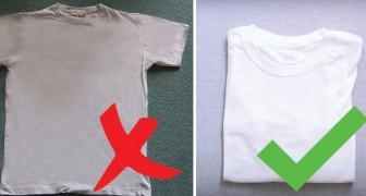Veja como deixar as roupas branquinhas com este truque!