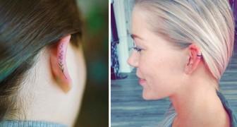 Tatuaggi sulle orecchie: ecco la nuova moda che manderà in pensione gli orecchini