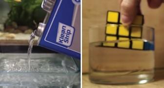 Sumerge el cubo de Rubik en la acetona: esta cosa es capaz de hacer este simple solvente
