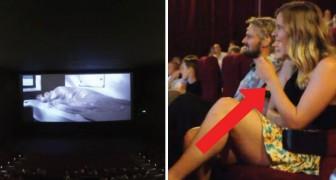Ze gaat naar de film met haar vriendje, maar als de lichten uitgaan, krijgt ze een bijzondere film te zien!