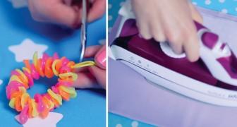 Quelques astuces pour transformer les pailles en plastique en des créations colorées