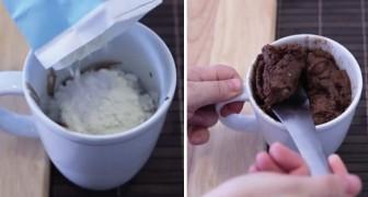 2 ingredienti e 2 minuti di cottura: assaporare questi muffin al cioccolato è fin troppo facile