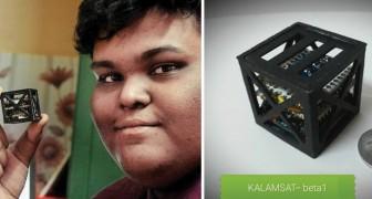 Op zijn 18e vindt hij de kleinste satelliet uit die ooit gemaakt is: het weegt 64 gram en gaat in juni de ruimte in