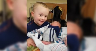 Kent meets his baby brother Noah for the first time!