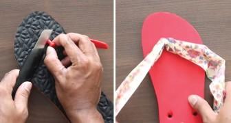 Usas las ojotas? Aqui un modo simple y original para eliminar el fastidio de la cadena de plastica