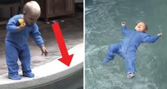 El niño cae en el agua pero gracias a este metodo sabe que cosa hacer para salvarse