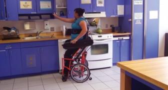 Questa moderna sedia a rotelle facilita le azioni quotidiane che un invalido troverebbe complicate