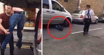 Ze plaatsen de benen van een etalagepop onder een auto om zo OVERAL te kunnen staan zonder een boete te krijgen!