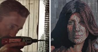 Inizia conficcando viti nel legno e realizza spettacolari quadri in 3D