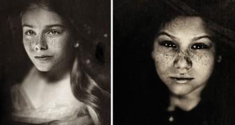 Hon fotograferar barn med en teknik som användes för 166 år sedan: resultatet är förtrollande