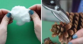 Kleine Zweige, Zapfen und Wattebäusche: so macht man Blumendeko ohne einen Cent auszugeben
