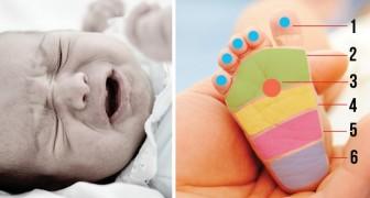 Massez ces points pour apaiser en un instant un nouveau-né inquiet et endolori