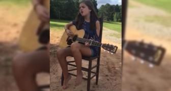 Tiene 13 años pero canta como una star: dejense atrapar de su voz angelical