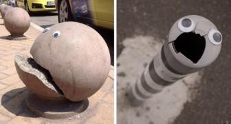 Qualcuno ha attaccato occhi finti sugli oggetti rotti... ed è quasi meglio che ripararli