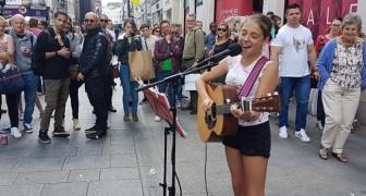 Esta menina de 12 anos canta no centro de Dublin: veja o vídeo que fez dela uma pequena estrela!