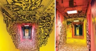 Ils demandent à 100 artistes de rue de repeindre l'école avant de la restructurer: l'effet n'a pas d'égal