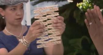 Incolla tra di loro delle mollette di legno e ci mostra un progetto perfetto per il giardino