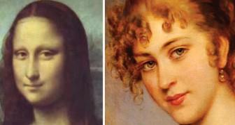 500 jaar aan vrouwenportretten lopen in elkaar over en tenslotte kijkt een vrouw je aan