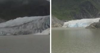Come è cambiato il ghiacciaio Mendenhall in 8 anni: un time-lapse che mette i brividi